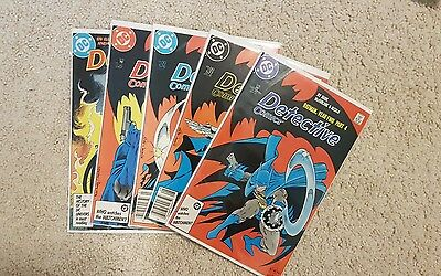 Detective Comics #574-578 Year Two Story all VFNM