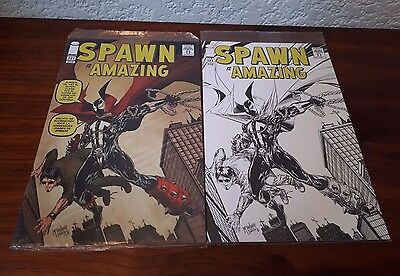 Spawn 221 - Regular & Sketched Amazing Fantasy 15 Homage - New Sealed!