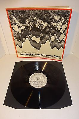 BENT LORENTZEN AN INTRODUCTION TO ELECTRONIC MUSIC 1968 UK 1st PRESS LP w/book