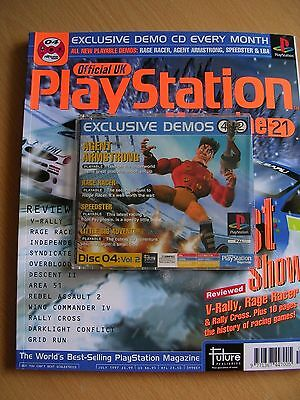 Official UK Playstation Magazine issue 21 and demo disc PS1