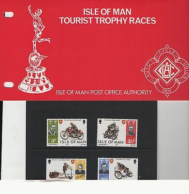 Isle Of Man Tt Races 1974  Presentation Pack Of Mint Stamps Free P&p