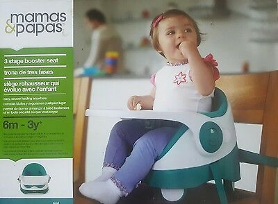 Mamas and Papas Baby Bud three stage booster seat Teale highchair 6-36 months