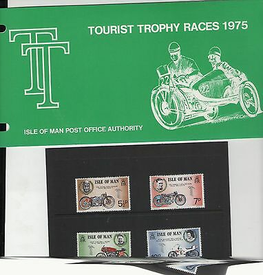 Isle Of Man Tt Races 1975  Presentation Pack Of Mint Stamps Free P&p