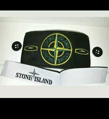 Genuine Replacement Stone Island Badge With Buttons And Neck Labels
