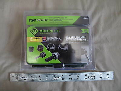 "(1) NEW Greenlee Slug Buster Manual Knockout Punch Set 7235BB 1/2"" to 1-1/4"" USA"