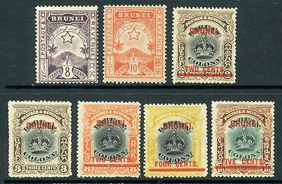 Brunei Mixed MM Lot from the 1895, 1906 Series. Cat app £145