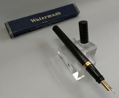 Vintage Antique Waterman's Ideal 9ct Solid Gold Safety Fountain Pen & Box