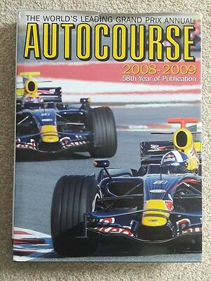 David Coulthard Signed Autocourse 2008 - 2009 Grand Prix Annual