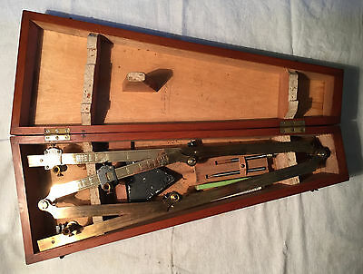 Antique Brass Pantograph in Original Fitted Case