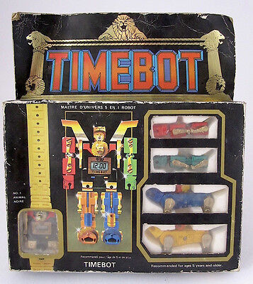 Vintage Golion Voltron Ko Timebot 1985 Leecotex Ind. 5 Function Lcd Watch!nuovo!