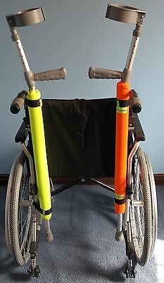 Crutch Pad / Holder High Vis Yellow Waterproof (MOBILITY STYLE)  SALE