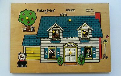 Vintage Fisher Price Wooden Puzzle #513
