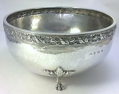 Arts & Crafts hallmarked Sterling Silver Fruit / Centrepiece Bowl – 1926  (377g)