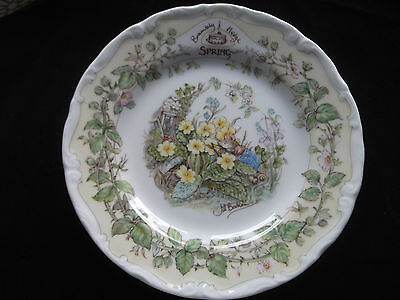 "Royal Doulton Brambly Hedge ""spring"" Afternoon Tea Plate Jill Barklem 1983"