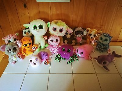 """TY Beanie Boo lot - 15 boos 9"""" & 6"""" - Most with tags"""