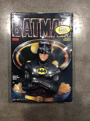 Ralston BATMAN Cereal box with Coin Bank Sealed
