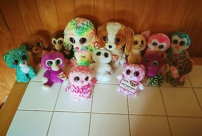 """TY Beanie Boo lot - 14 Boos 9"""" & 6"""" boos - Most with tags"""