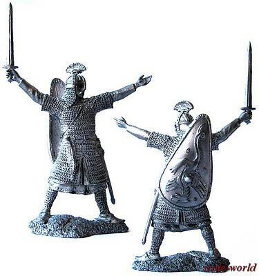 Tin toy soldier, miniature. Anglo-Saxon Earl, 9-11 centuries. 54 mm