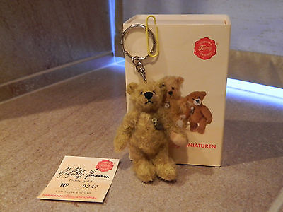 Hermann Mohair Bear Keyring (Teddy Gold 162193) - Boxed with Certificate L/E 247