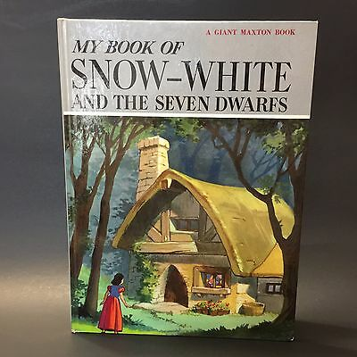 My Book of Snow White And The Seven Dwarfs A Giant Maxton Book Vintage