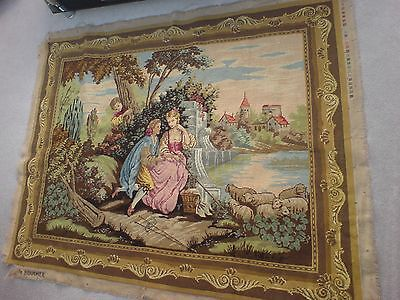Beautiful Large Completed Boucher needlepoint Tapestry Wallhanging