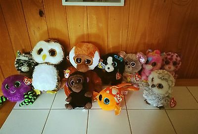 """TY Beanie Boo lot - 11 boos 9"""" & 6"""" boos - Most with tags"""