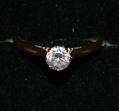 18ct Gold modern Diamond solitaire Ring.