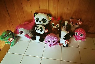 TY Beanie Boo lot - 10 Boos - mixed lot - Most with tags
