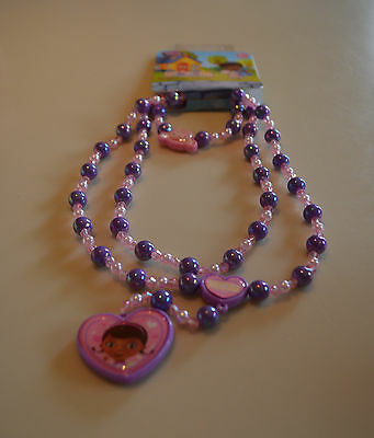 NEW Disney Store Doc McStuffins 3 piece jewelry set necklace, bracelet NWT
