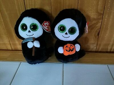 TY Beanie Boo set - Grimm & Treats Halloween Boos - Tags attached