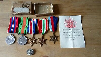 Genuine F.A WARING Medals With Pension Badge and Papers