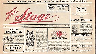 1903 Seattle Theater Program ~ The Stage ~ Baker Theater Co. ~ The Christian