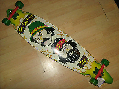 COLLECTABLE CHEECH AND CHONG PINTAIL LONGBOARD CRUISER 43.5 x 9.9 COMPLETE NEW