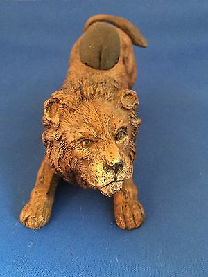 Cold Painted Bronze Lion Pin Cushion by Geschutzt for Bergman - Large