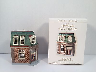Hallmark Keepsake Ornament Corner Bank Nostalgic Houses And Shops 2006