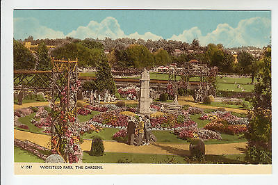 Northants: Kettering. Wicksteed Park, The Gardens - Photochrom PC c.1950s (2157)