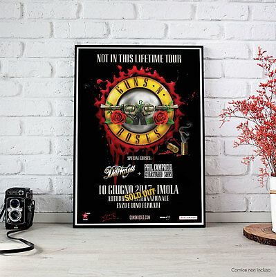 Guns N' Roses - Fine Art Poster 10 giugno 2017 Imola - Not In This Lifetime Tour
