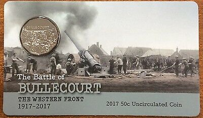2017 RAM 50 cent UNC Coin - the battle of bullecourt the western front 1917-2017