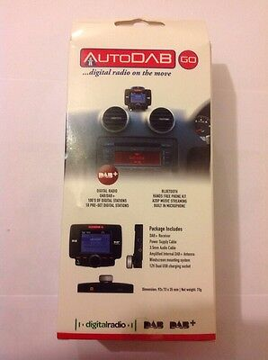 AutoDAB GO Plug N Play Universal Car Digital Radio with Bluetooth Handsfree A2DP