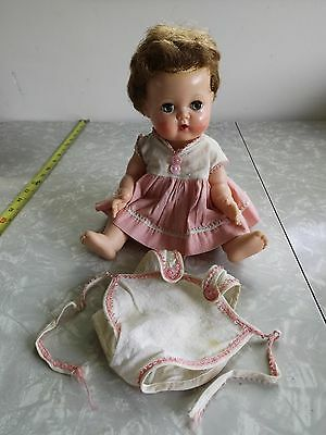 "1950's American Character 12"" Tiny Tears with 2 ORIGINAL OUTFITS  Rockabye Eyes"