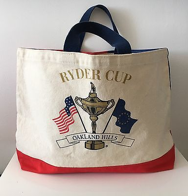 Ryder Cup Oakland Hills Heavy Duty Canvas Tote Bag 2004