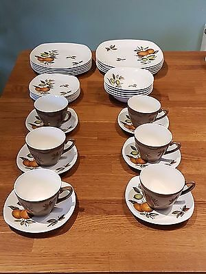 staffordshire midwinter stylecraft oranges and lemons dinner and tea service