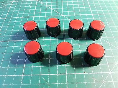 7 x High Quality Rotary Switch / Potentiometer Knobs With Pointer