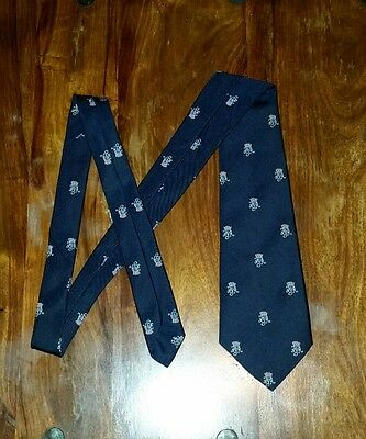 Vintage Royal Yachting Association Mens Tie Blue Pristine 1970s 1980s