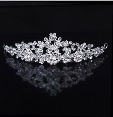 Wedding Bridal Party Butterfly Tiara Crystal Rhinestone Stunning Crown Headband