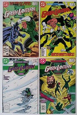 Lot of 4 Green Lantern The Corps 206 207 220 221 1986 1988 Comics