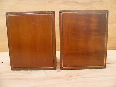 Vintage Old Timber, Wood Book Ends Pair, '2' (A644)