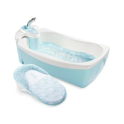 Baby Whirlpool Spa Bath Tub Infant Bathtub Toddler Shower Water Jets Blue