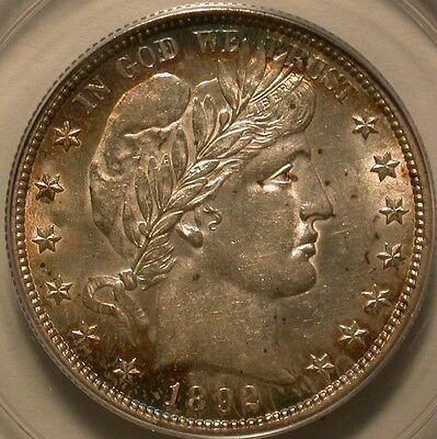 1892-S Barber Half Dollar PCGS AU-55 OGH with toning and luster!