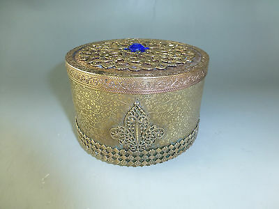 Rare Swiss Antique Thorens (Reuge) Music Box Brass Powder Case (Watch The Video)